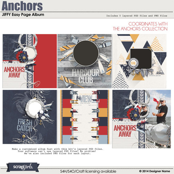 Anchors JIFFY Easy Page Album