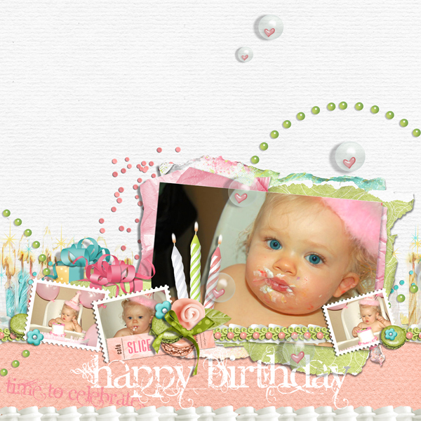 """Baily's Birthday layout by Brandy Murry. See below for links to all products used in this digital scrapbooking layout."
