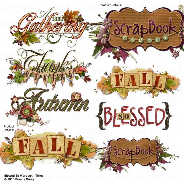 Blessed Be Word Art Titles