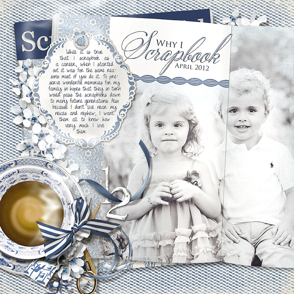 �Why I Scrapbook� layout by Brandy Murry. See below for links to all products used in this digital scrapbooking layout.