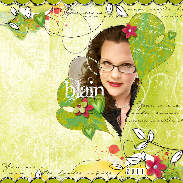 Blain layout by Brandy Murry. See below for links to all products used in this digital scrapbooking layout.