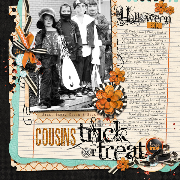 Trick or Treat layout by Brandy Murry. See below for links to all products used in this digital scrapbooking layout.