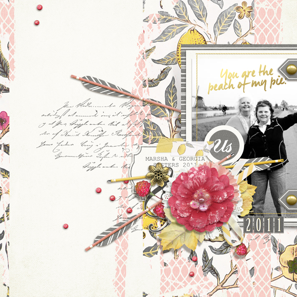 """You are the peach of my pie"" layout by Brandy Murry"