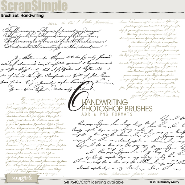 Brush Set: Handwriting 8501