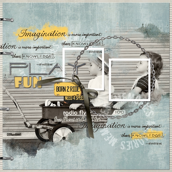 �Born 2 Ride� layout by Brandy Murry. See below for links to all products used in this digital scrapbooking layout.