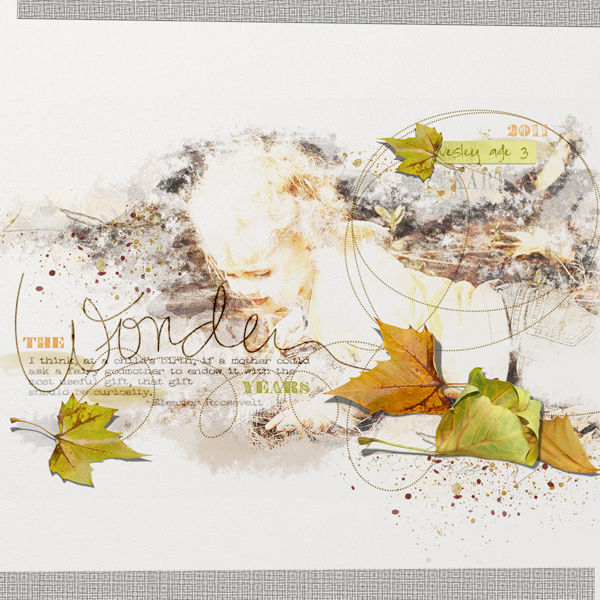 The Wonder Years layout by Brandy Murry. See below for links to all products used in this digital scrapbooking layout.