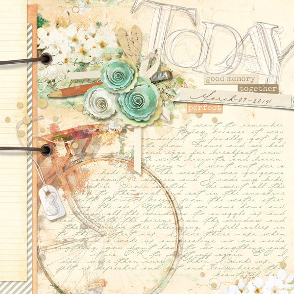 """Today"" digital scrapbooking layout by Brandy Murry"