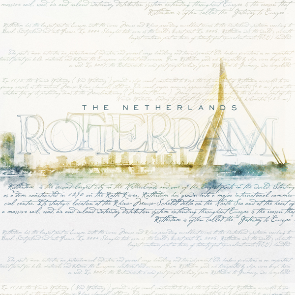 """Rotterdam"" digital scrapbooking painting by Brandy Murry"