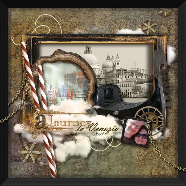 Venezia layout by Brandy Murry. See below for links to all products used in this digital scrapbooking layout.