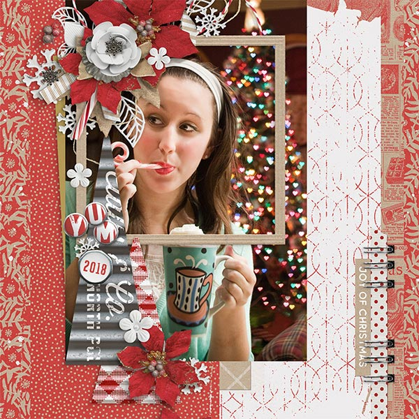 Claus & Co. Christmas digital scrapbooking layout by Brandy Murry