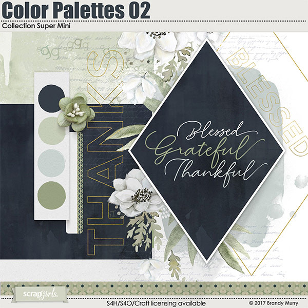 Color Palettes 02 Digital Scrapbooking Collection Mini by Brandy Murry