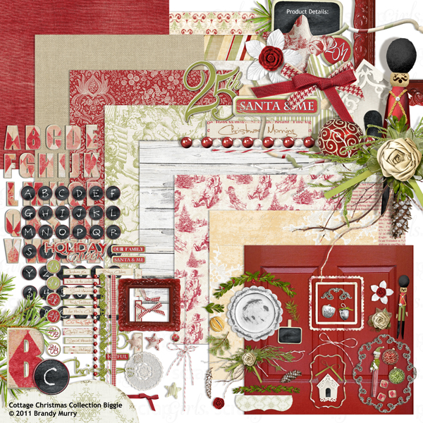 "Also Available: <a href=""http://store.scrapgirls.com/product/24620/"">Cottage Christmas Collection Biggie </a>(Sold Separately)"