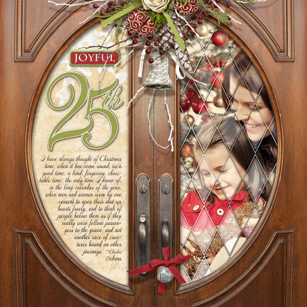 Joyful 25th by Brandy Murry. See below for links to all products used in this digital scrapbooking layout.