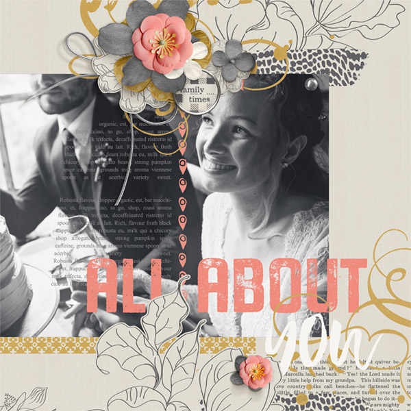 All About You digital scrapbooking layout by Brandy Murry
