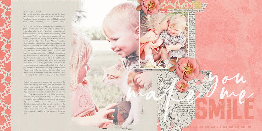 You Make Me Smile digital scrapbooking layout by Brandy Murry
