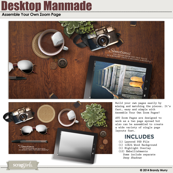 Assemble Your Own Zoom Pages: Desktop Manmade