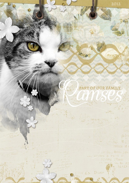 """Ramses"" digital scrapbooking layout by Brandy Murry"