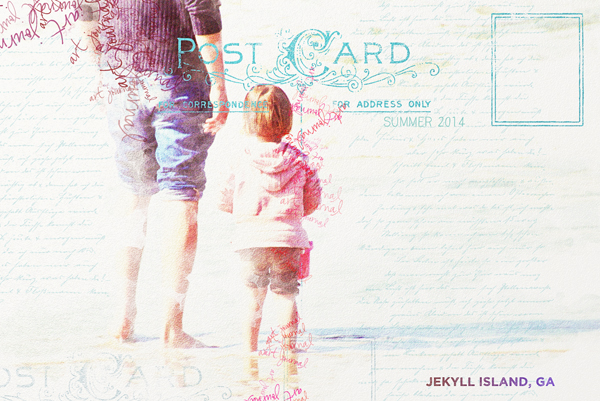 """Postcard"" digital painting layout by Brandy Murry"