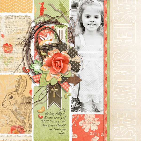 Easter Sunday digital scrapbooking layout by Brandy Murry