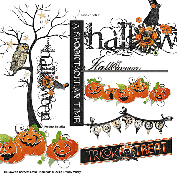 Halloween Border Embellishments