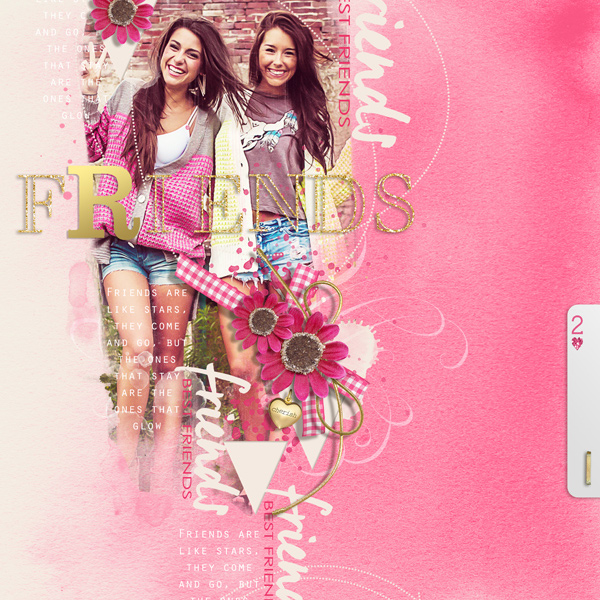 """Friends"" digital scrapbooking layout by Brandy Murry"