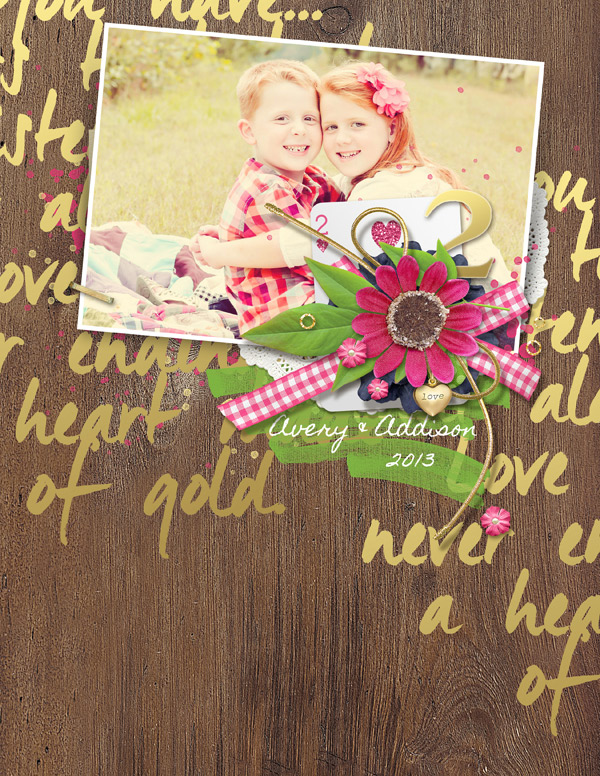 """Avery & Addison"" digital scrapbooking layout by Brandy Murry"