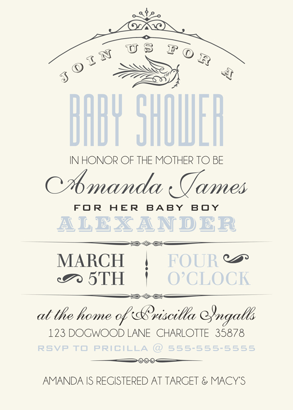 Baby Shower Invitation Sample by Brandy Murry