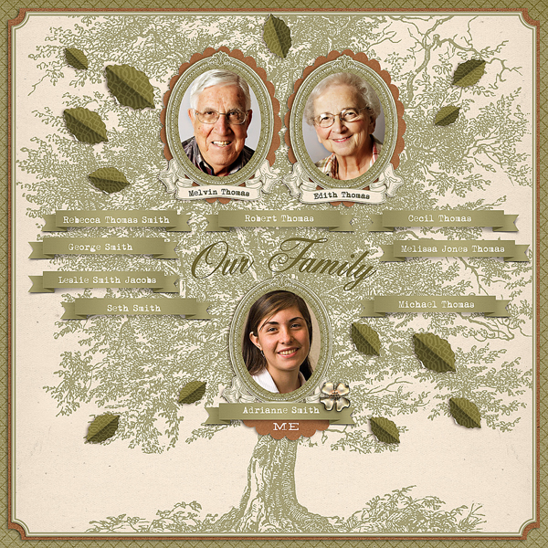 """Family Tree"" layout by Brandy Murry."