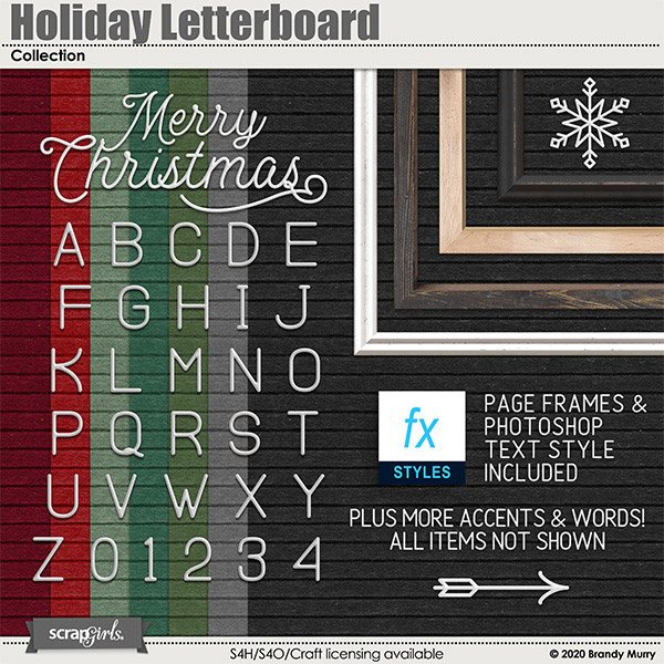 Holiday Letterboard by Brandy Murry