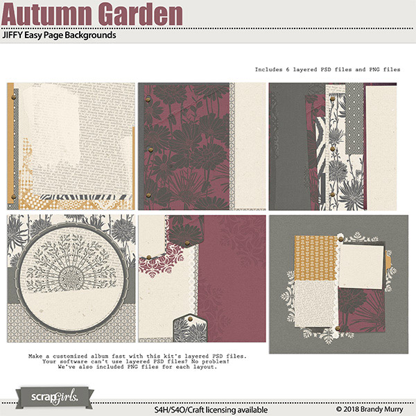JIFFY Easy Page Backgrounds Autumn Garden