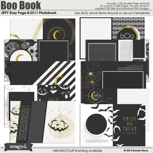 JIFFY Easy Page Album: 8.5X11 Photobook - Boo Book