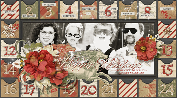 """Advent""  digital scrapbooking layout by Brandy Murry"