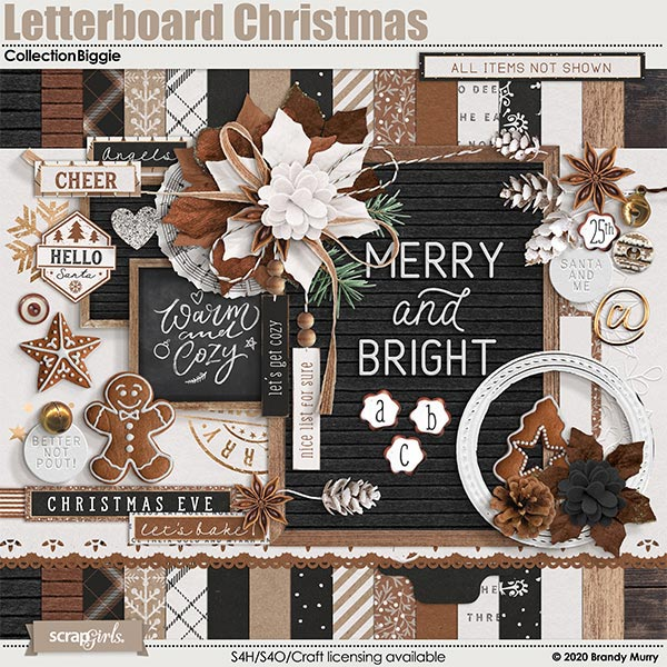 Letterboard Christmas Collection Biggie by Brandy Murry
