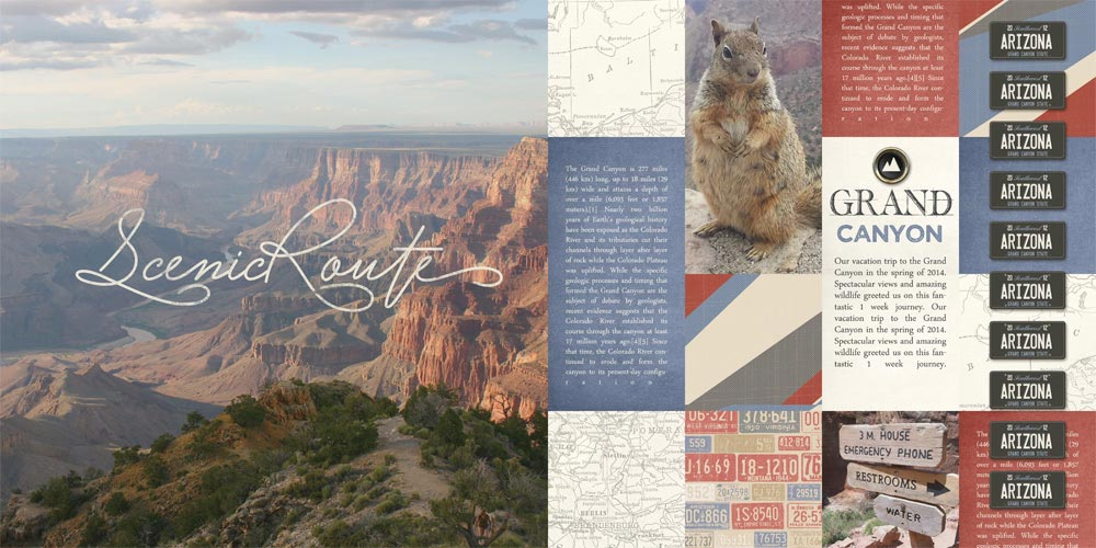 """""""Scenic Route"""" Grand Canyon Layout by Brandy Murry"""