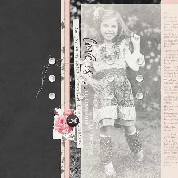 """Love Is...Lillian"" digital scrapbooking layout by Brandy Murry"