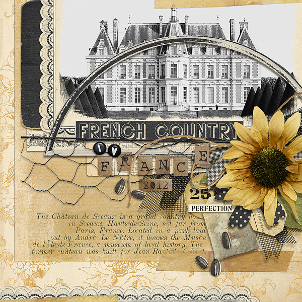 """French Country"" layout by Brandy Murry"