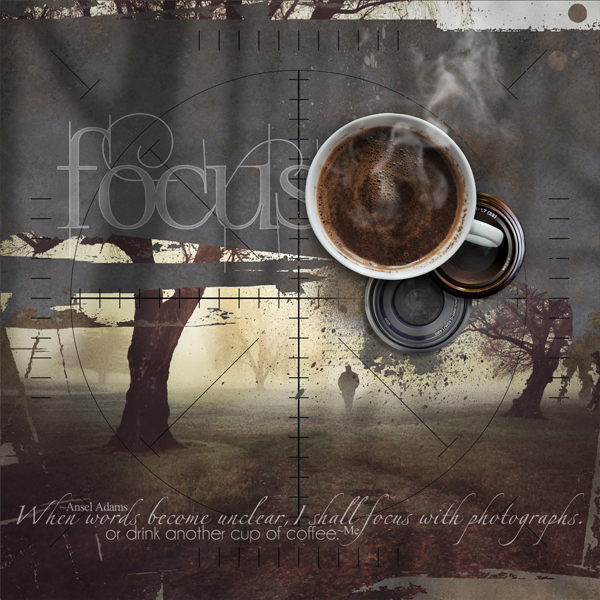 """""""Focus"""" photography digital scrapbooking layout by Brandy Murry"""