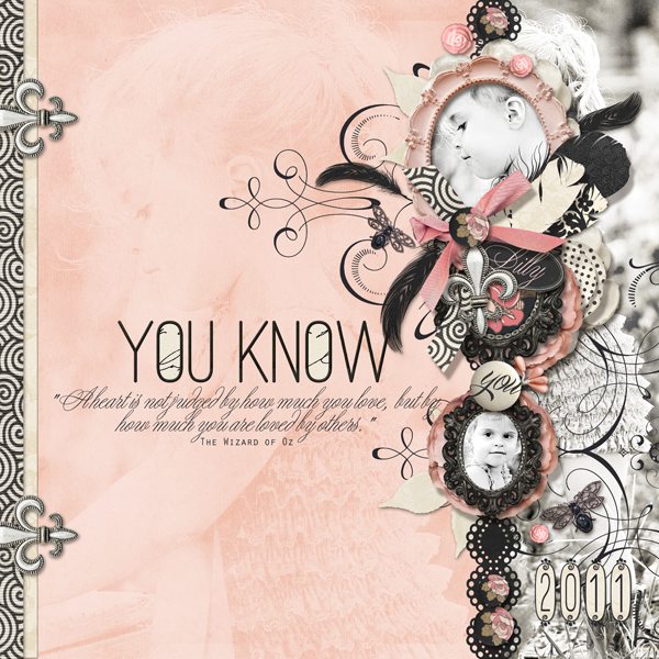 """You Know..."" digital scrapbooking layout by Brandy Murry."
