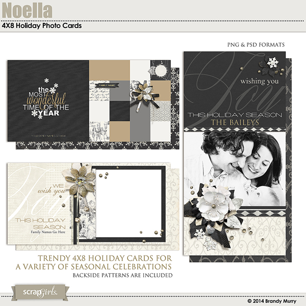 Noella 4X8 Holiday Photo Cards