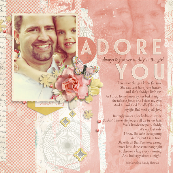 """Adore You"" Digital Scrapbooking Layout by Brandy Murry"