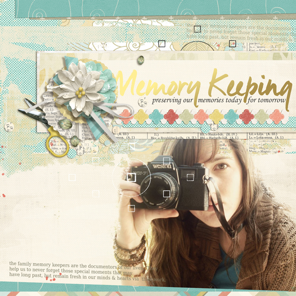 """Memory Keeping"" Digital Scrapbooking Layout by Brandy Murry"