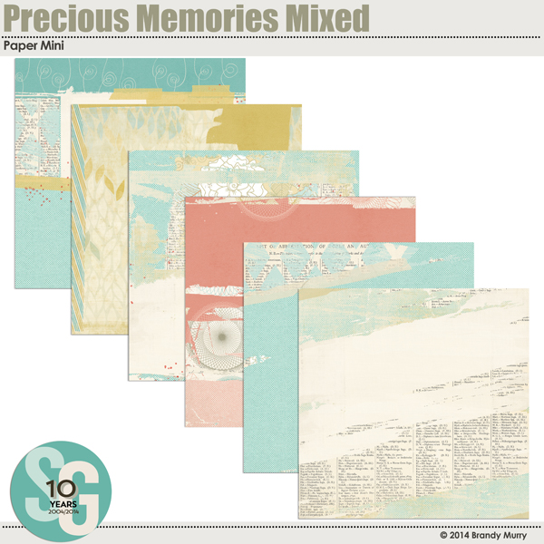 Precious Memories Mixed Paper Mini