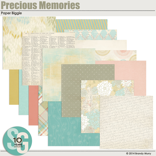 Also Available: Precious Memories Paper Biggie (Sold Separately)