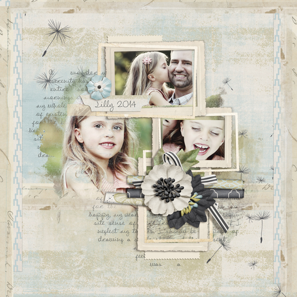 """Lilly"" digital scrapbooking layout by Brandy Murry"