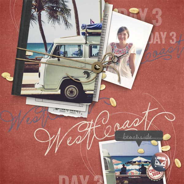 """West Coast"" roadtrip Layout by Brandy Murry"
