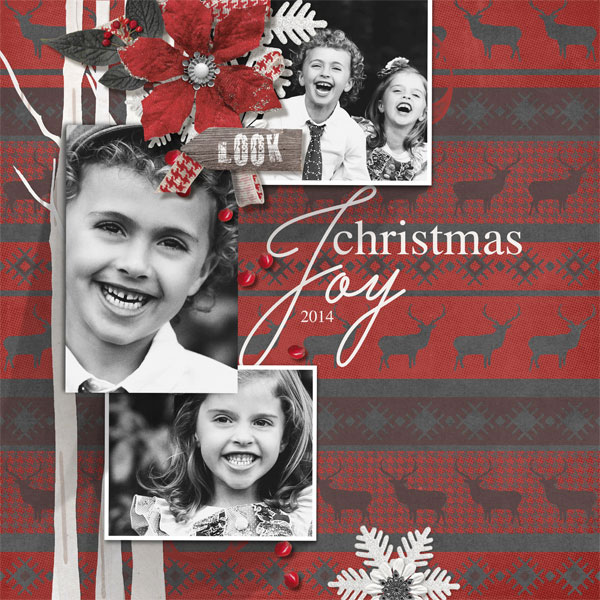 Christmas layout by Brandy Murry