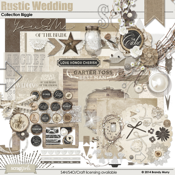 Also Available: Rustic Wedding Collection Biggie (Sold Separately)
