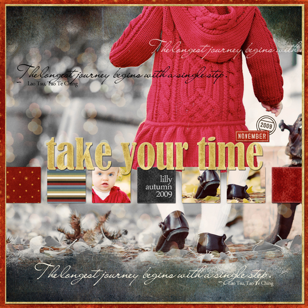 Take Your Time layout by Brandy Murry. See below for links to all products used in this digital scrapbooking layout.