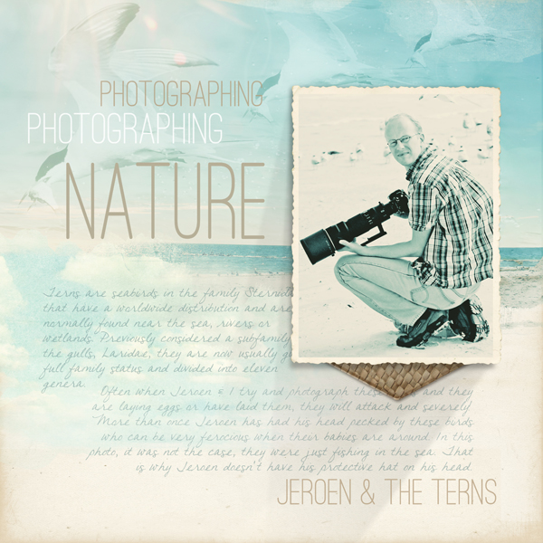 """Photographing Nature"" digital scrapbooking layout by Brandy Murry"