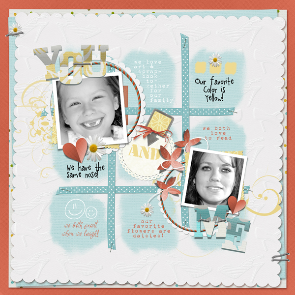 You & Me layout by Brandy Murry. See below for links to all products used in this digital scrapbooking layout.
